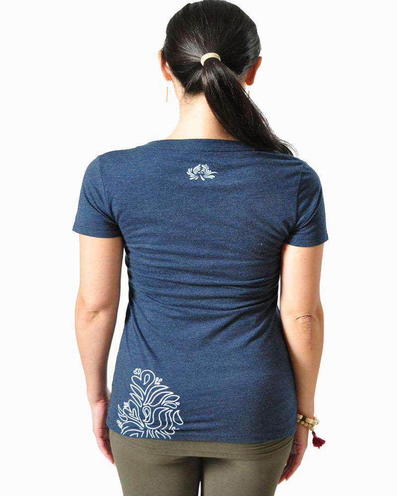 Henna V Neck Tee Shirt - Women's