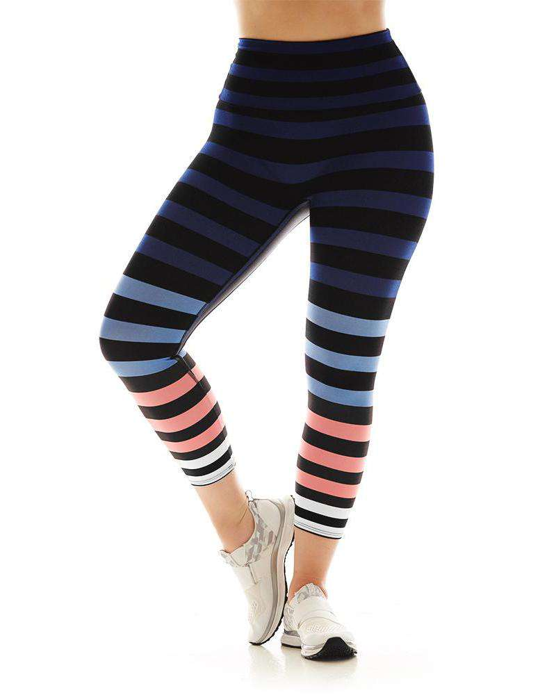 Molly Striped Capri - Mukha Yoga