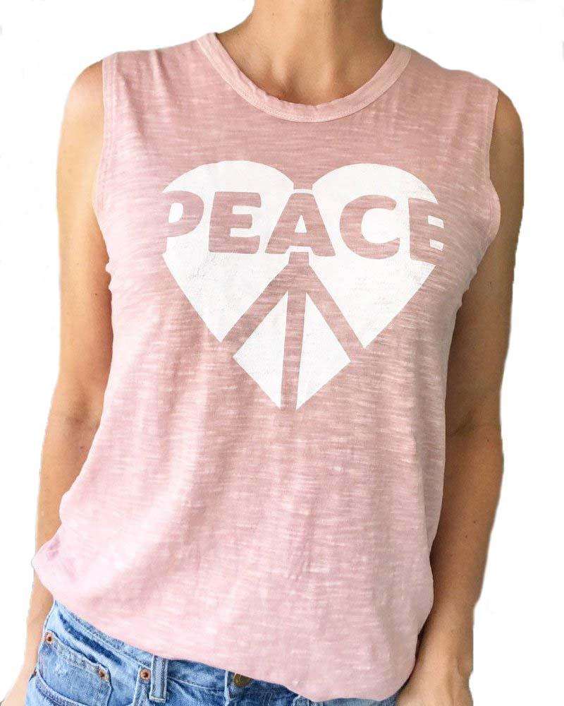 Peace Heart Muscle Tee - Mukha Yoga