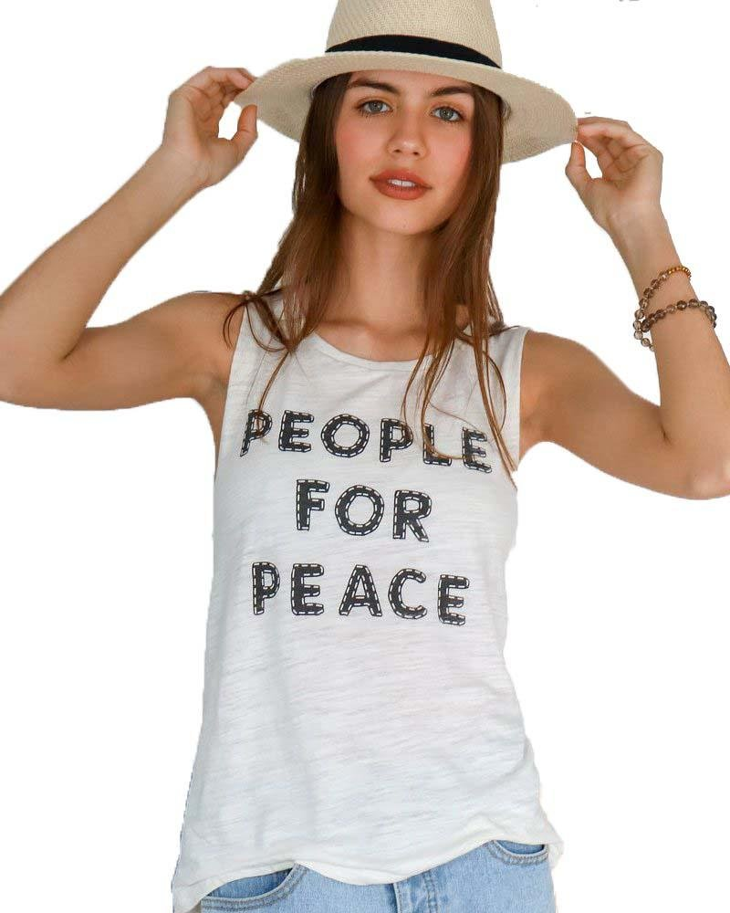 People for Peace Muscle Tee - Mukha Yoga