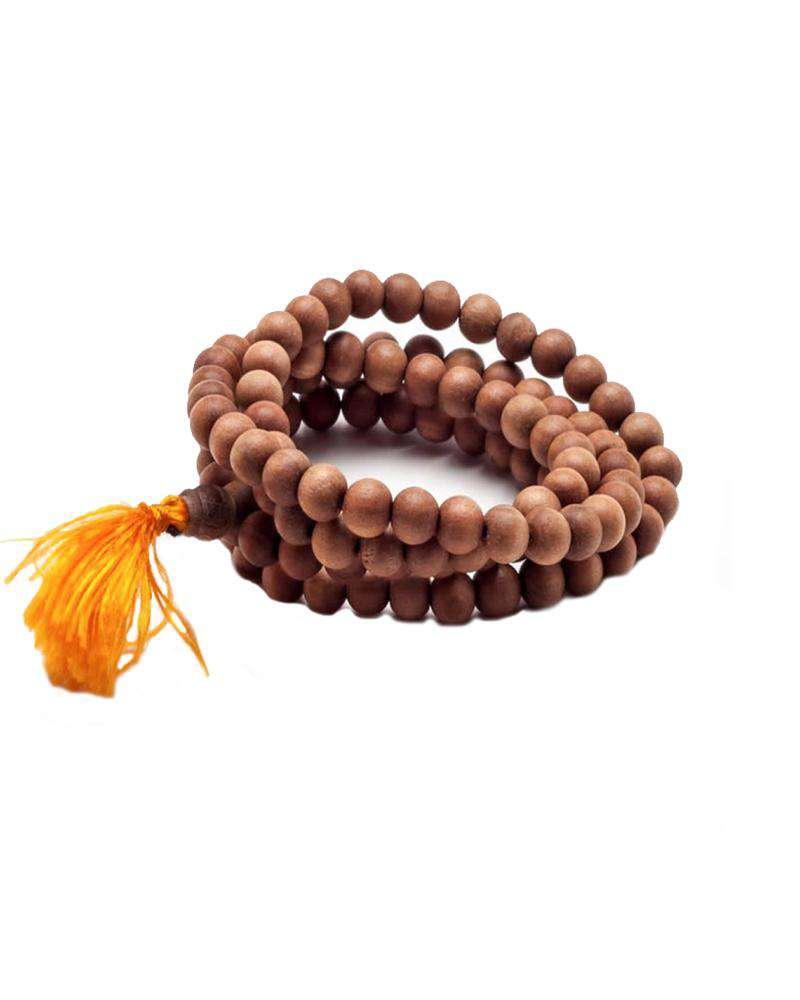 Tibetan Sandalwood Prayer Mala - Mukha Yoga