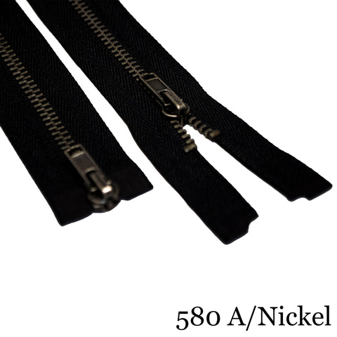 "#3 36""  Metal Two Way Separating Zipper - Various Colors"