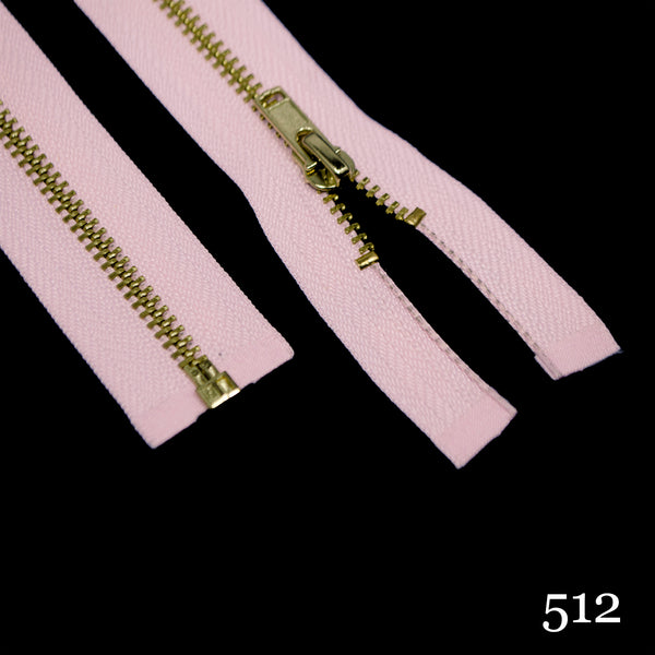 "#3 36"" Brass Separating Zipper - Various Colors"
