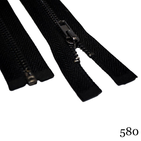 "#3 36""  Gunmetal Separating Zipper - Various Colors"