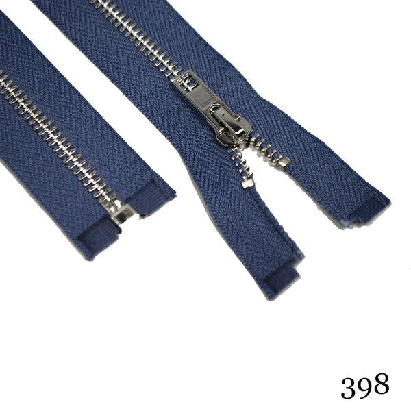 "#5 36"" Nickel Separating Zippers- Various Colors"