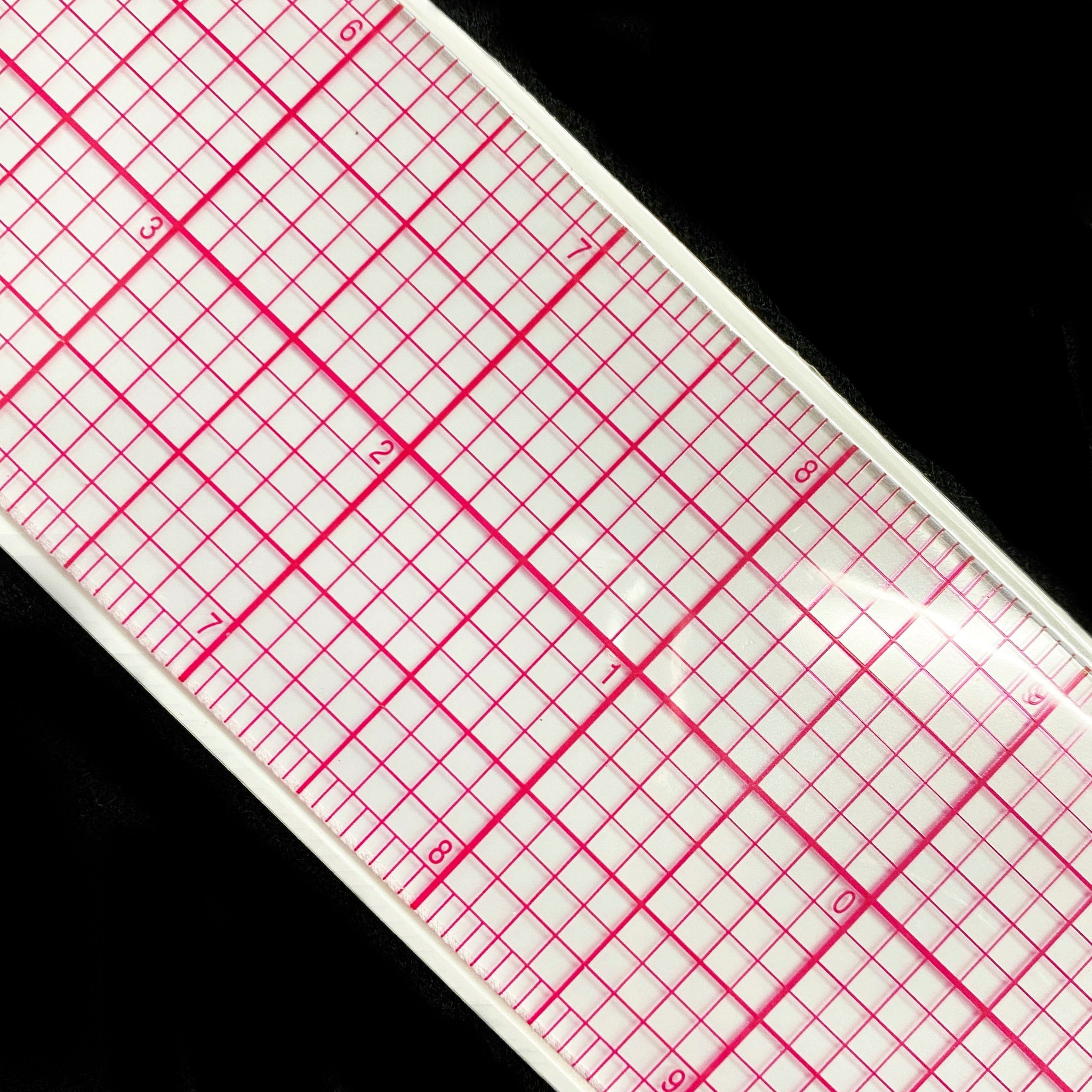 8ths Clear Graph Ruler C Thru 2x18""
