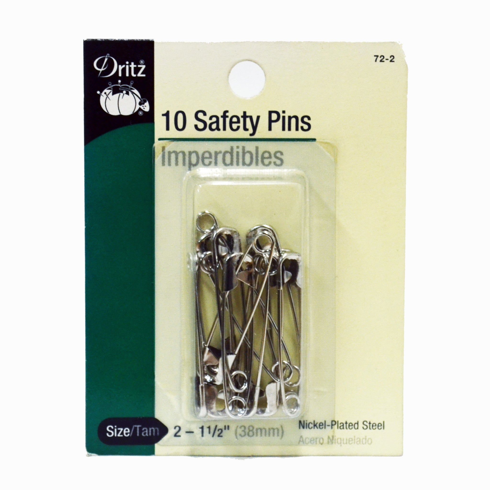 "#2 Safety Pins (1-1/2"")"