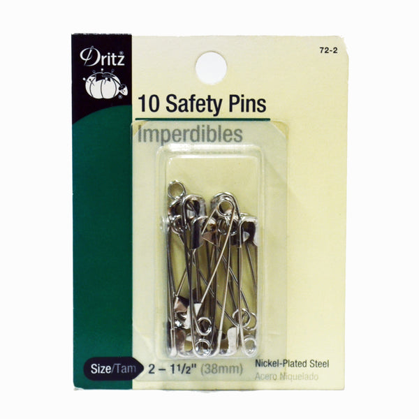 Safety Pins - Rustproof Nickel - (#1, #2, #3) - Dritz