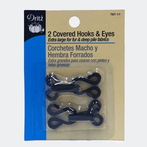 Covered Hooks & Eyes - 2-pk
