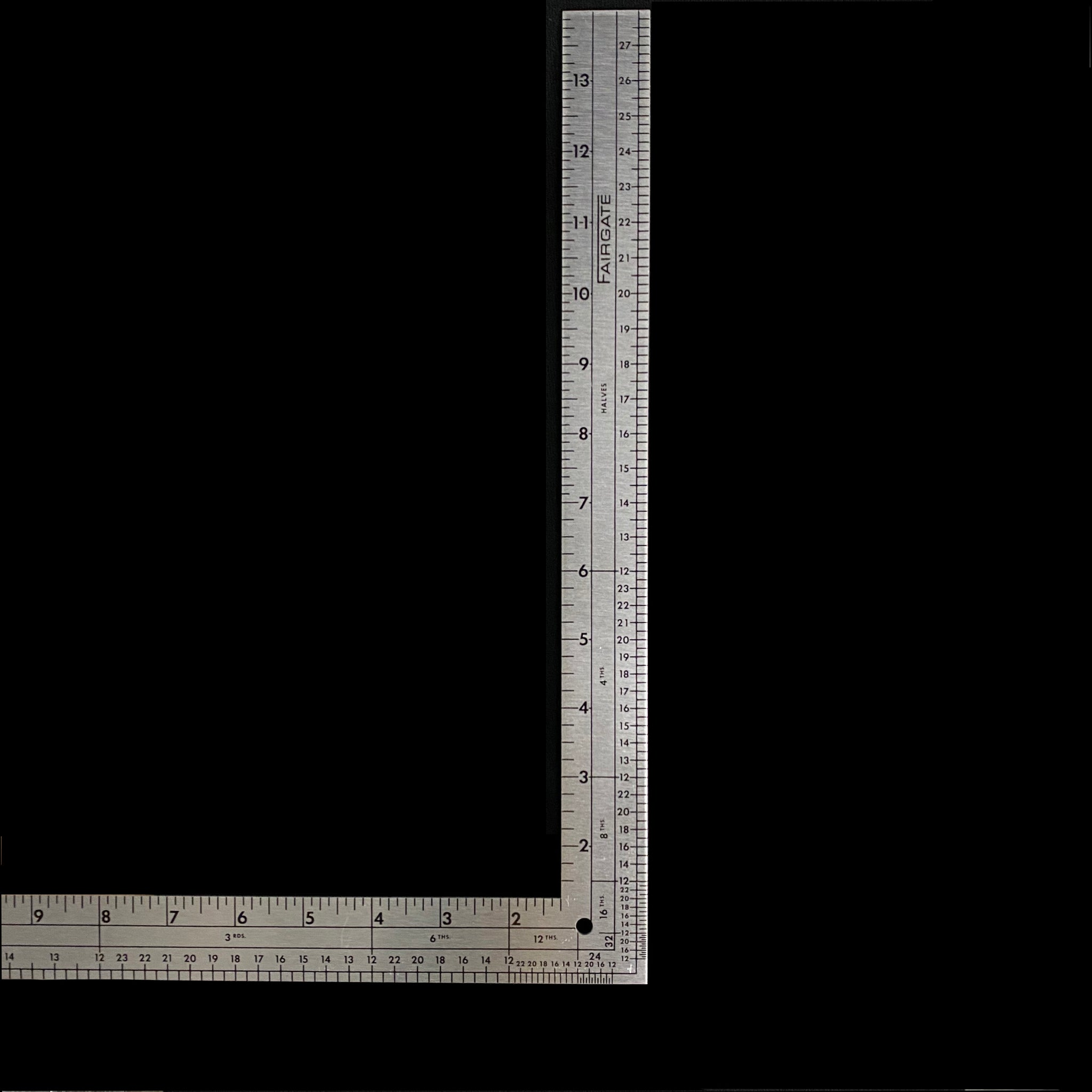 Fairgate Metal L-Square Ruler 14x24""
