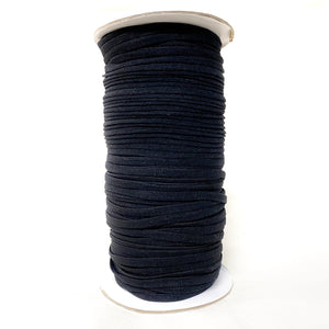 4mm Flat Stretch Nylon Cord - White or Black- 1 Roll (100 Yards)