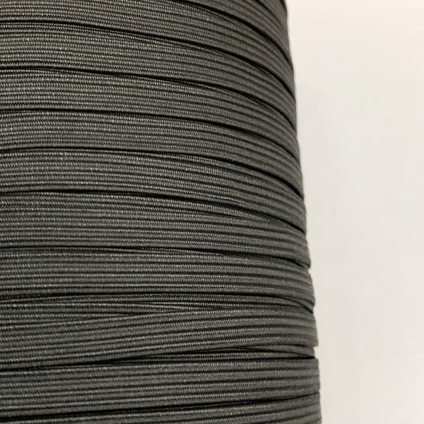 "1/4"" Braided Elastic - Black or Optic White - 1 Roll (160 Yards)"