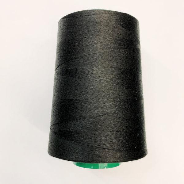 Tex 40 Spun Poly Sewing Thread A+E Perma Core 6,000yards/spool - BLACK OR WHITE