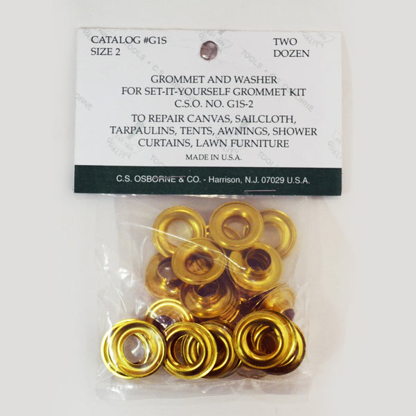 Grommet and Washer for Set it Yourself Kit - Gold