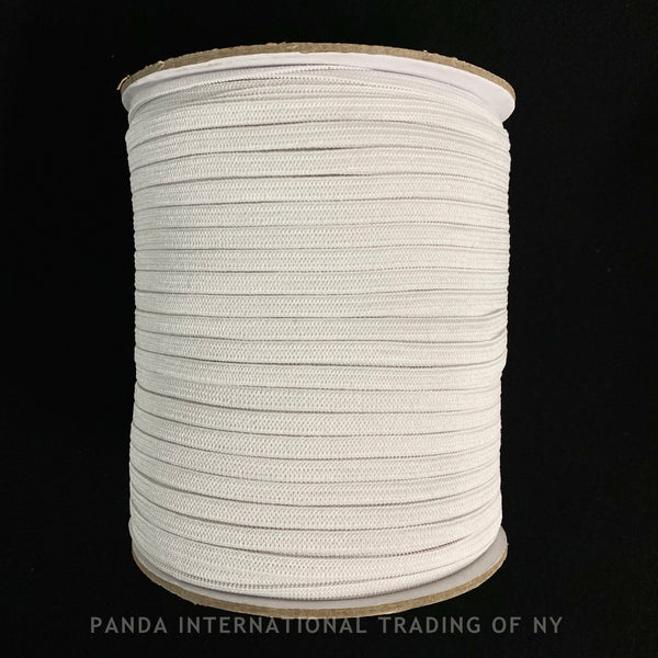 "1/4"" Knitted Elastic  - Black or White - 1 Roll (288 Yards)"