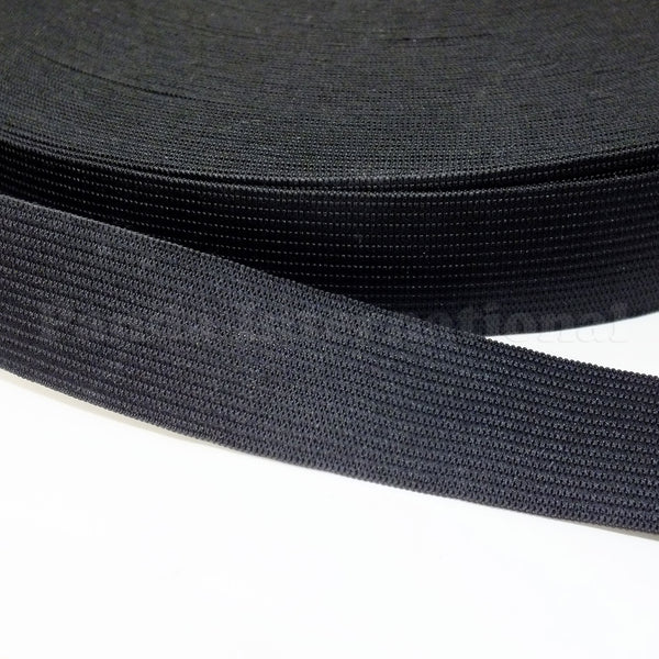 "1.5"" Knitted Elastic - Black or White - 1 Roll (50 Yds)"