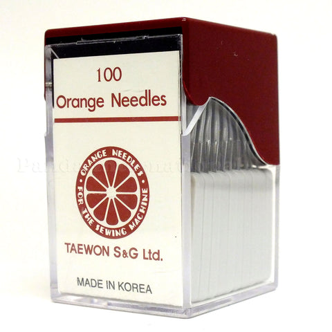 Orange Industrial Sewing Needles - Multiple Sizes - 100-pk