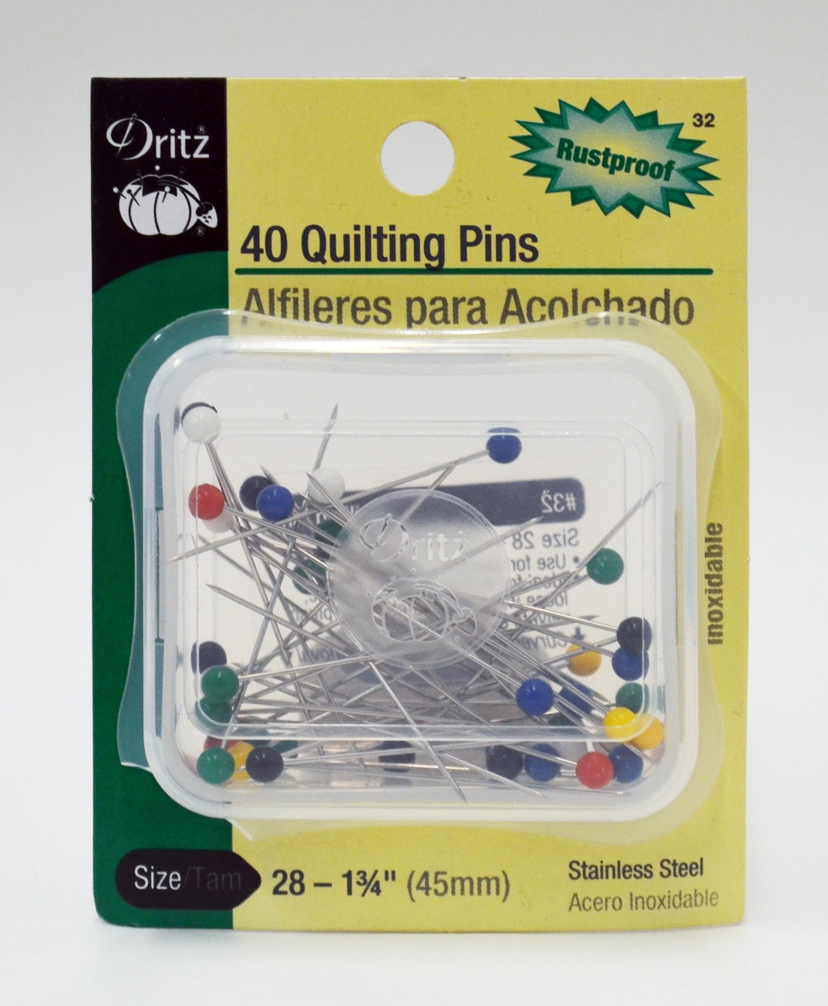 "Quilting Pins (Size 28) 1-3-4"" - 40pack"