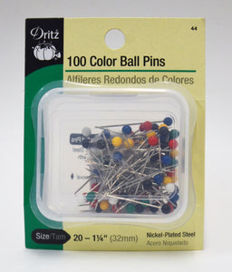 Color Ball Pins - 100-pk