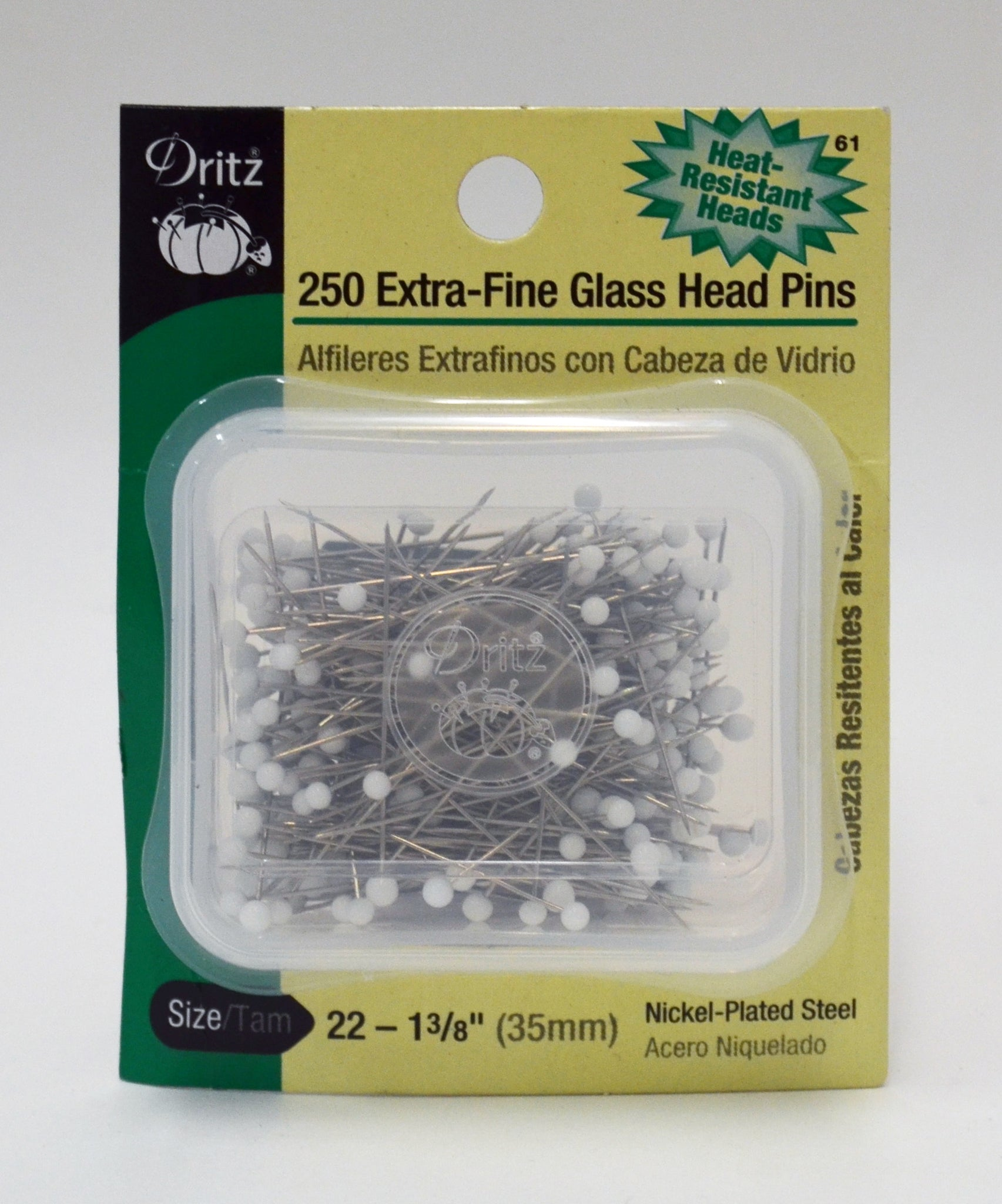 Extra-Fine Glass Head Pins - 250-pk