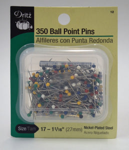 Dritz 350 Ball Point Pins Size 17 Item 12