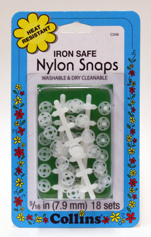 Iron Safe Nylon Snaps - 18 Sets