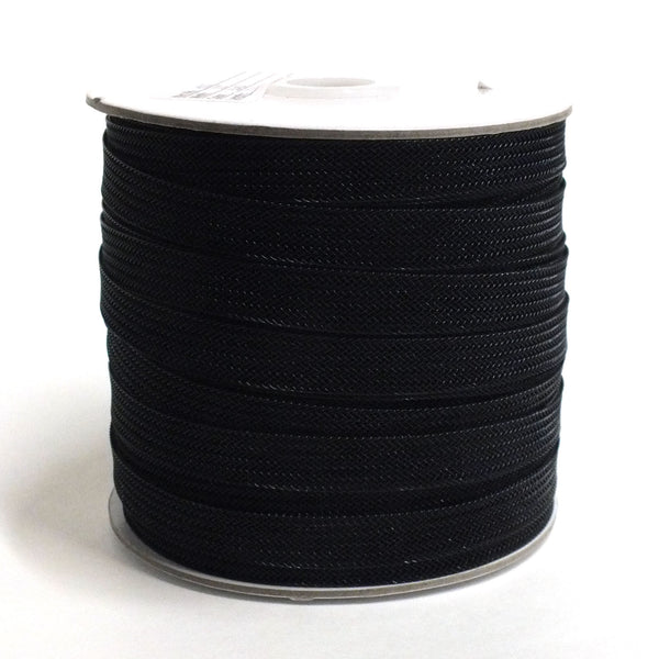 "1/2"" Horse Hair Mesh Braid - Black - 72yd"