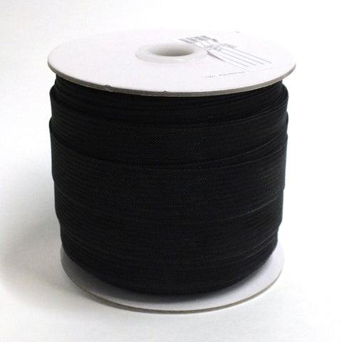 "1"" Horsehair Mesh Braid- Black - 72YD"