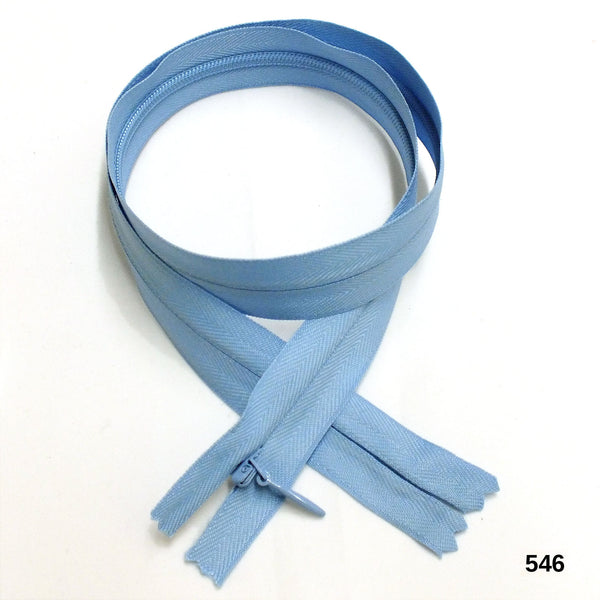 "BKC Invisible Zipper - Color: 502 to 549 - 9"" or 24"" - 6-pk"
