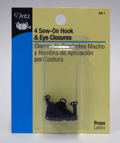 Sew-On Hook & Eye Closures