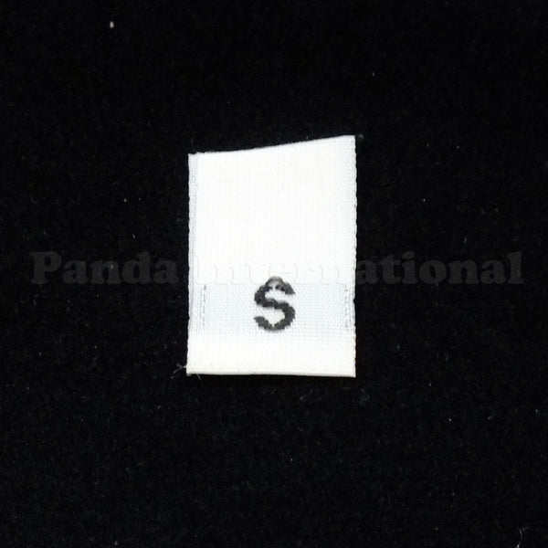 White Woven Size Labels