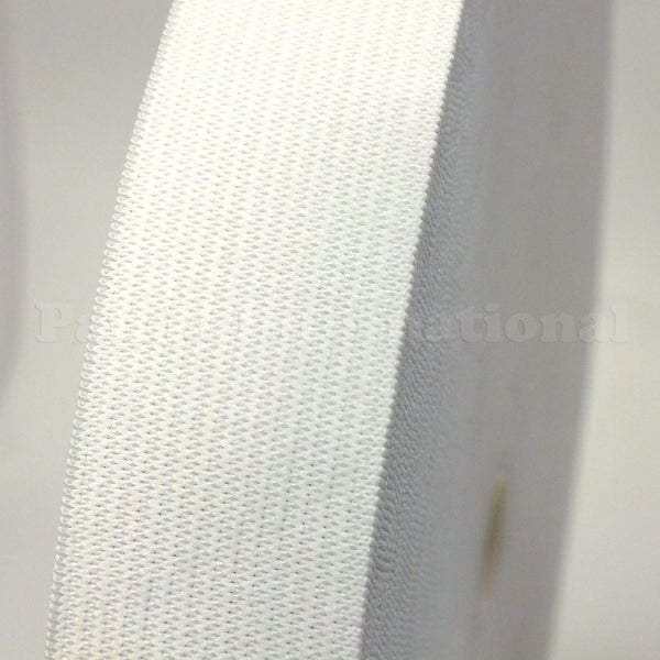 "3/4"" Knitted Elastic Band - Black or White - 1 Roll (50 Yds)"