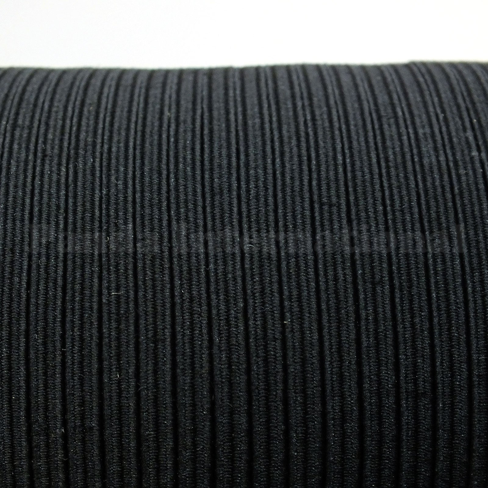 "1/8"" Braided Elastic - Black or White - 12 yards"