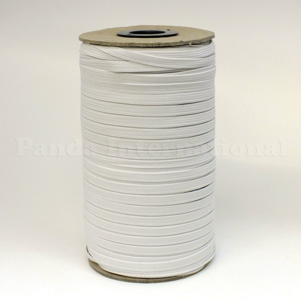"1/4"" Braided Elastic - Black or White- 1 Roll (144 Yards)"