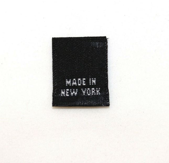 """MADE IN NEW YORK"" Woven Label - Black"