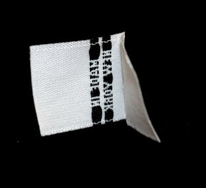 """MADE IN NEW YORK"" Woven Label - White"
