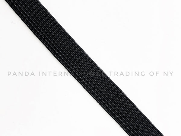 "1/2"" Braided Elastic- Black or White - 1 Roll (144 Yds)"