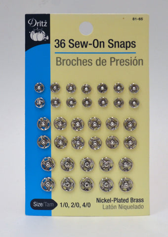 Sew-On Snaps - Variety Pack