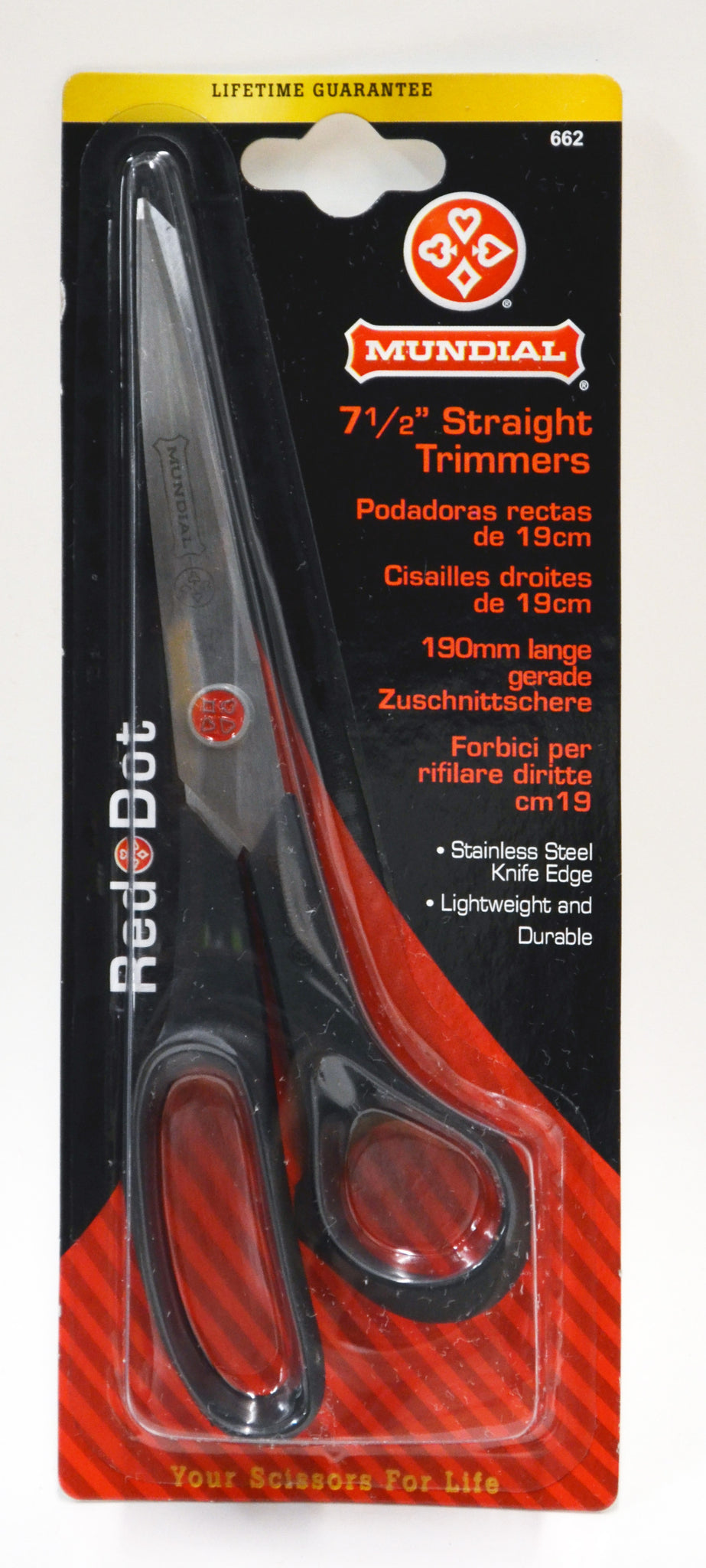 Mundial Straight Trimmers - 7 1-2""