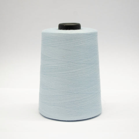 100% Polyester Tex 27 Sewing Thread 10,000 Yards - Light Blue Grey #5753