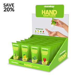Cleanology Hand Sanitizer Gel 2 FL OZ (60 mL) 24 pack