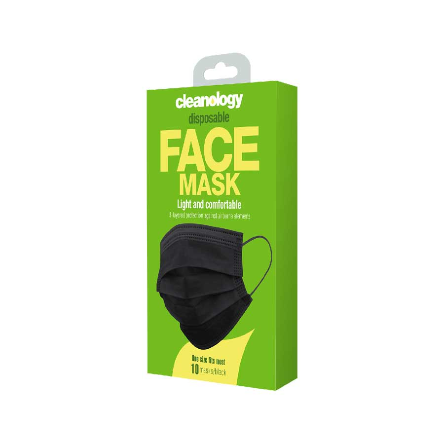 Disposable Masks 10-Pack (Black)