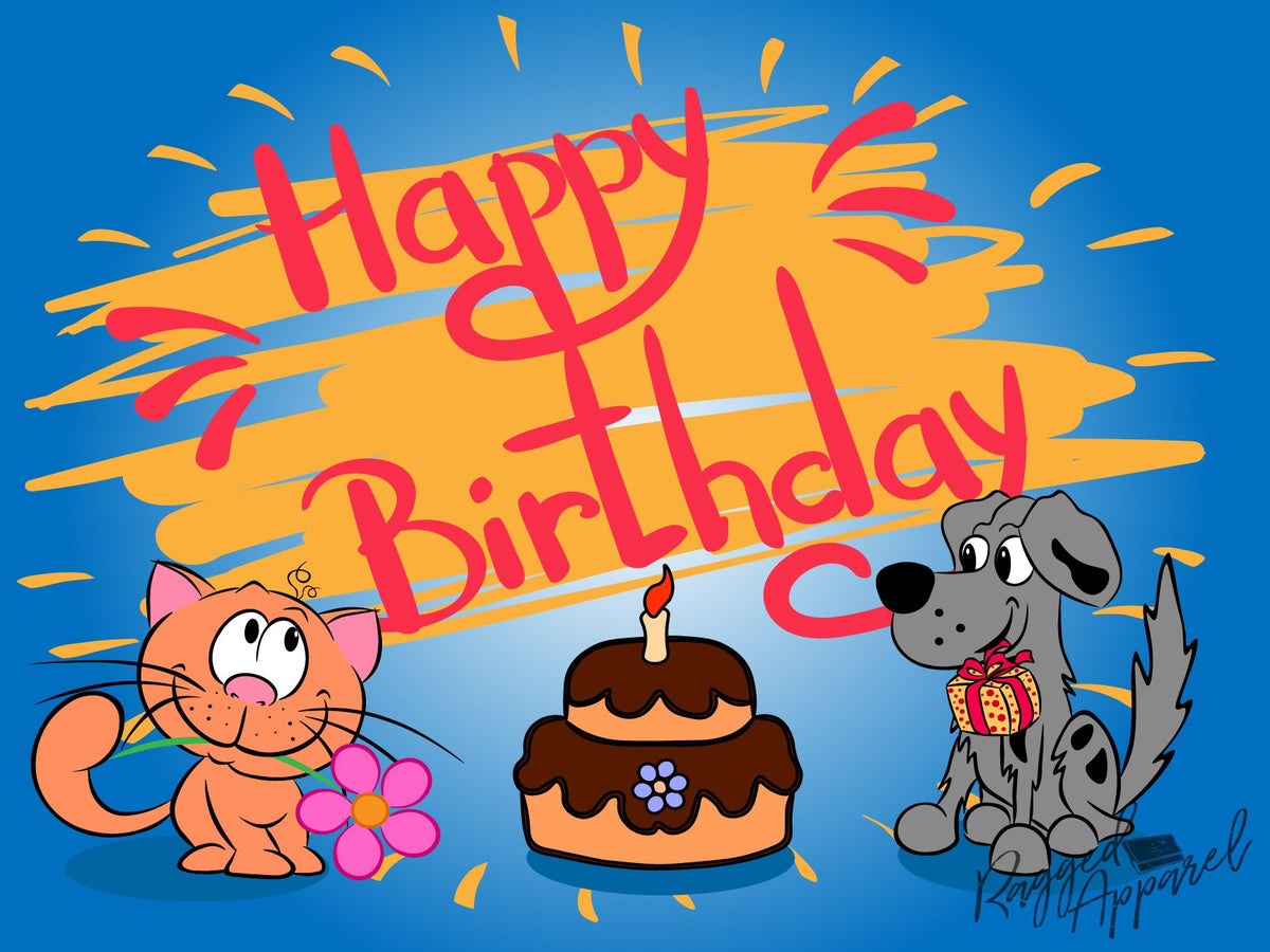 Animal Friends Birthday Sign - Ragged Apparel Screen Printing and Signs - www.nmshirts.com
