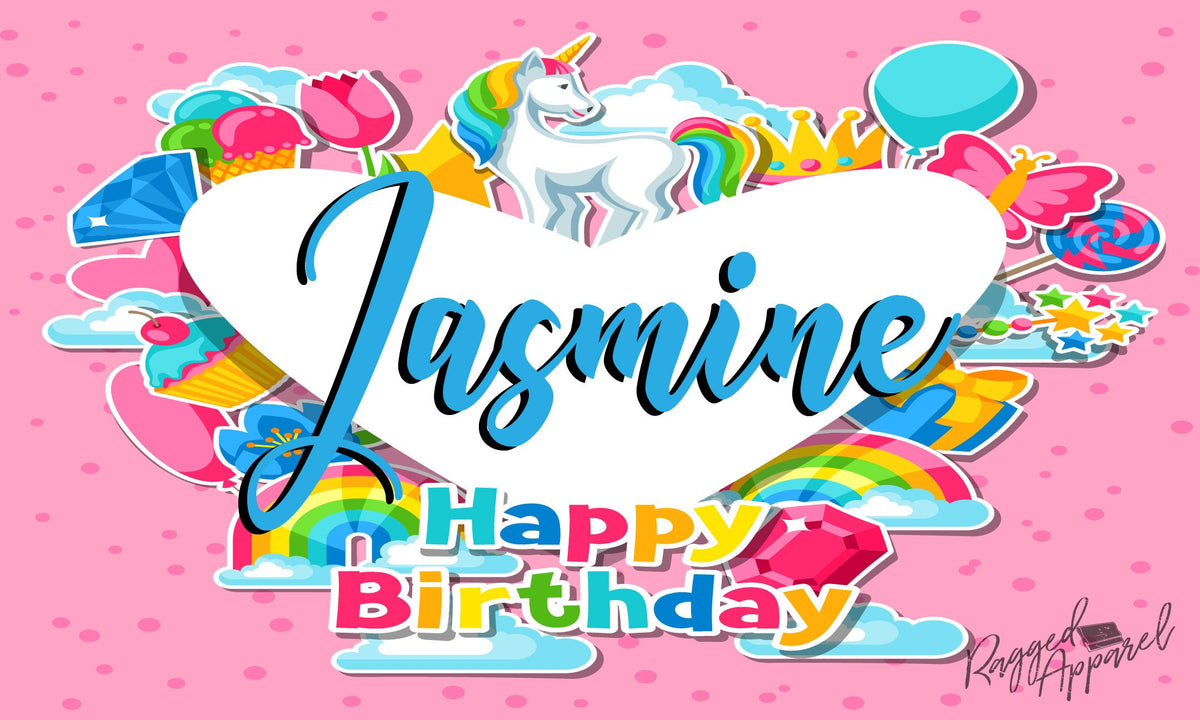 Personalized Unicorn Birthday Banner - Ragged Apparel Screen Printing and Signs - www.nmshirts.com