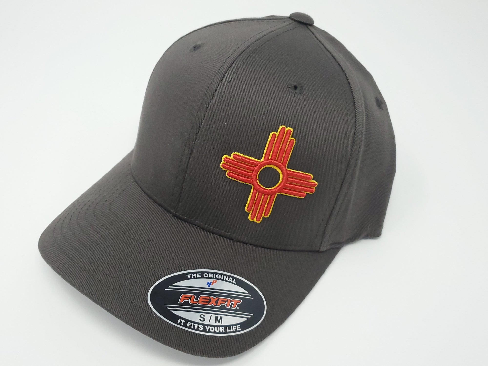 Zia Embroidered Fitted FlexFit Hat - Ragged Apparel Screen Printing and Signs - www.nmshirts.com