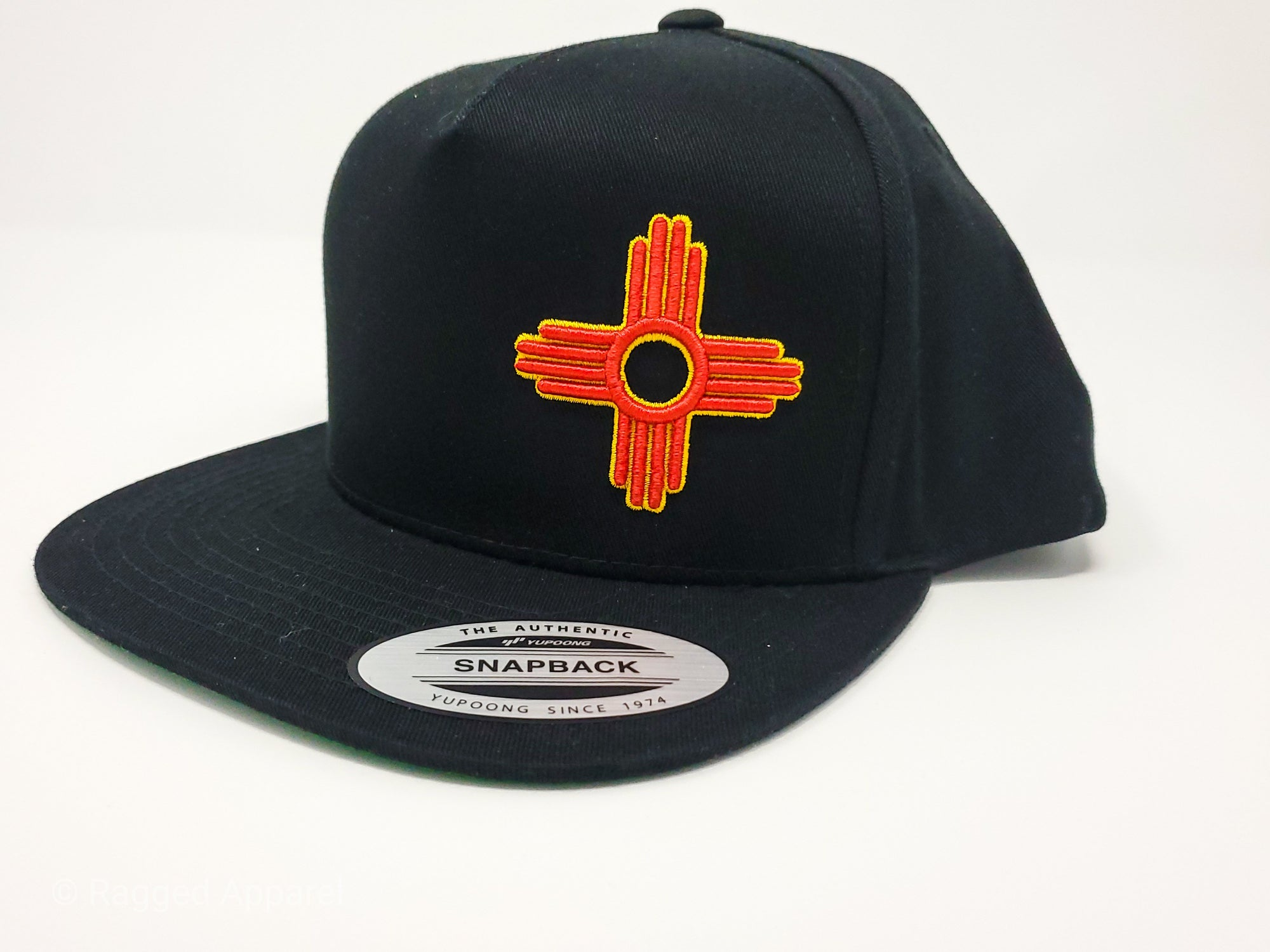 Zia Embroidered Flat Bill Snapback - Ragged Apparel Screen Printing and Signs - www.nmshirts.com