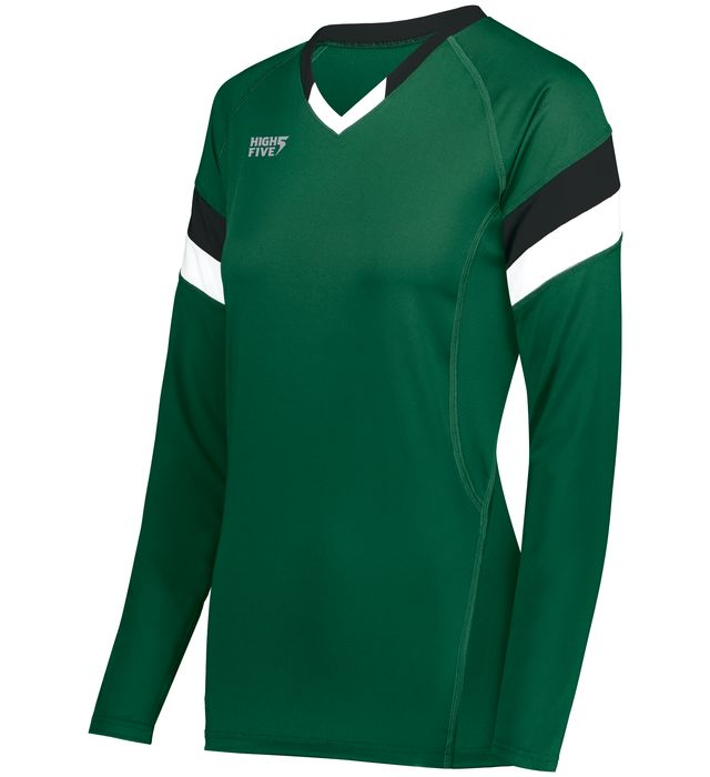 High Five 342242 Ladies TruHit Tri-Color Long Sleeve Volleyball Jersey
