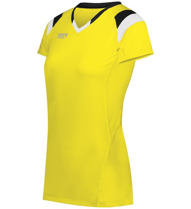 High Five 342252 Ladies TruHit Tri-Color Short Sleeve Volleyball Jersey