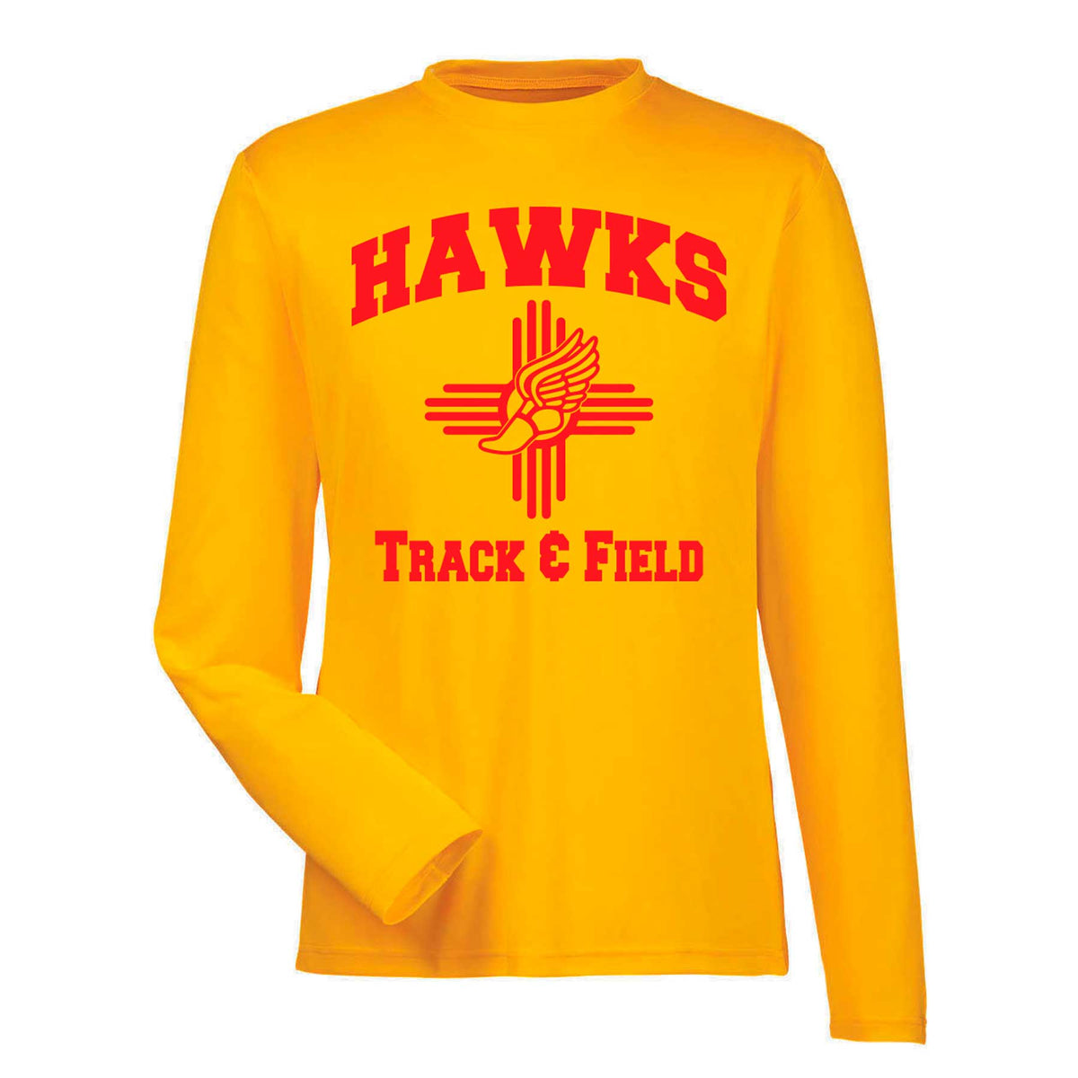Official Centennial Track and Field Gold Long Sleeve Dryfit T-Shirt