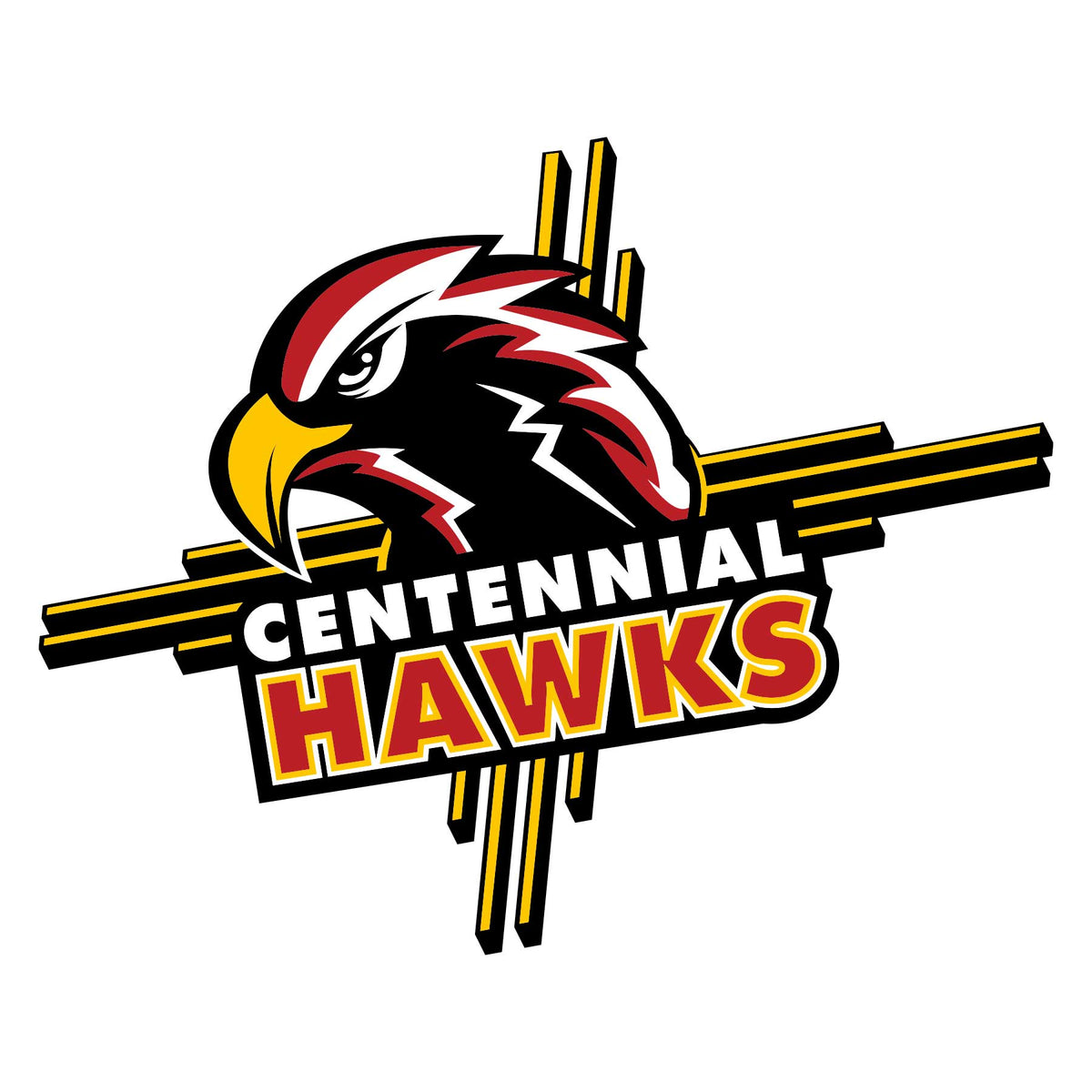 Centennial Hawks Logo Graphic Decal